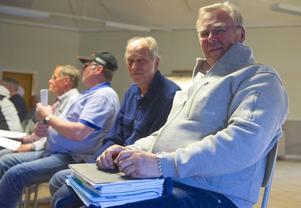 Nils-Olof Friberg och Anders Alsund var flitiga debattörer under skotermötet i Vemdalen.