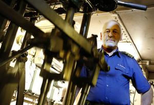 Örjan Bergqvist är maskinchef på S/S Östersund och sekreterare i föreningen Bevara ångaren Östersund.