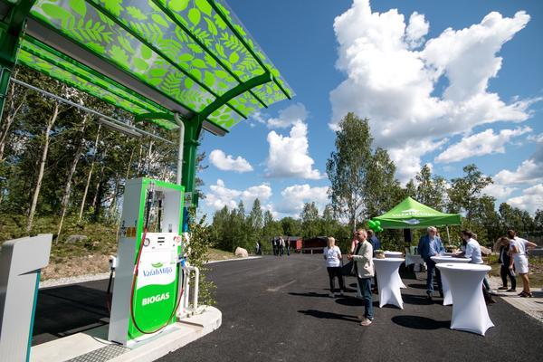 Biogasmacken i Fagersta är Vafab Miljös sjätte biogasanläggning.