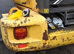 En grävmaskin hade fått sin tank tömd på diesel. Brottet är polisanmält.