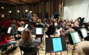 Festivalorkestern, Borlänge ungdomssymfoniker, spelar bakom artisterna, men har också egna delar i programmet.