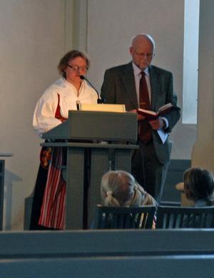 Siv Enqvist läste syndabekännelsen på Alviksmål.
