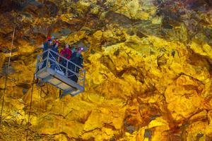 Insidan på vulkanen Thrihnukagigur är full av spektakulära färger.