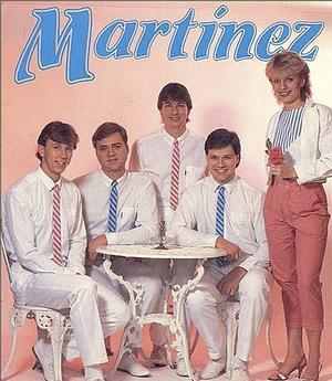 Den första uppsättningen av Martinez från 1980 - Ronny Seimersson, Kenneth Grannas, Ove Olsson, Kent Olsson och Maribel Martinez.
