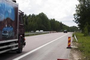 Hastigheten förbi Valbo köpcentrum är nu åter 110 kilometer i timmen.