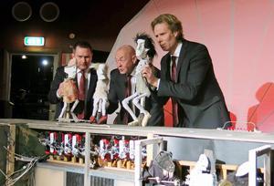 Mats Jadin, Hans Kellerman och Ove Zacco Andersson gör alla rollerna i Skottes musikteaters uppsättning av Faust.