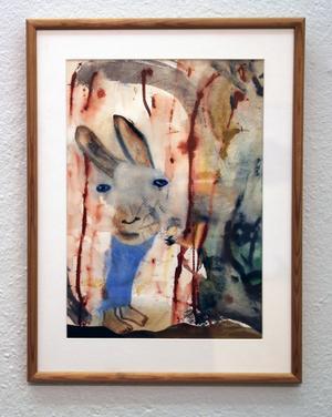 Haren II, akvarell av Hans Viksten.