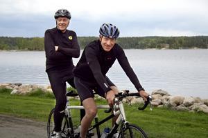 Hårdträning. Kim Bergqvist och Stefan Svallin tränar för fullt med tandemcykeln för att få in snitsen inför Vätternrundan.