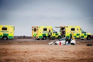 När olyckan händer är ambulansen snabbt på plats.