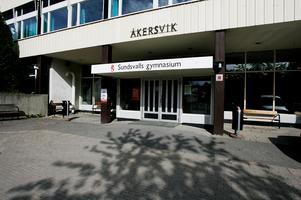 Sundsvalls gymnasium har lämnat Åkersvik på Hovrättsgatan.Bild: Sofie Wiklund