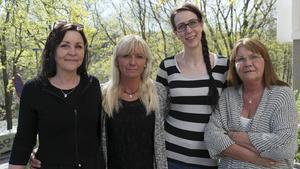 Lena Fenryr, Jeanette Rosberg, AnnSophie Forsell Öhrn och Carina Köhler sitter i styrelsen för föreningen Kung över livet.