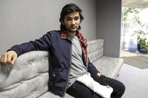 Rhaman Khademi från Ljusdal ska söka jobb på Sykes.