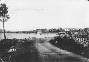 Kallbadhuset i Stavre, bilden är tagen i slutet av 1800-talet.