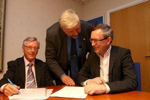 Ett bra avtal för både Kramfors kommun och Eon, tycker Per-Olov Näsström, Jan Johansson och Bengt Andersson.