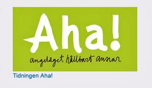 Länken till tidigare nummer av Aha fungerar inte. Publikationen har plockats bort från hemsidan.