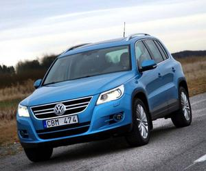Konkurrent: VW Tiguan 2,0 TDI 319 000 kronor.Spelar i en egen division både vad gäller pris och kvalitetskänsla.Foto: Rolf Gildenlöw