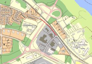 Markerad sträcka på Krylbovägen kommer att vara helt avstängd för fordonstrafik mellan den 21 november och den 24 december.