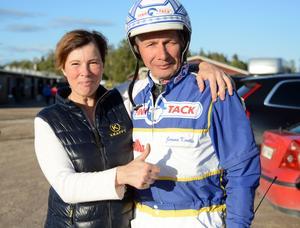 Susanne Richters M.T.Joinville vann V75 på Romme tidigare i år med Jorma Kontio. Nu startar ekipaget i V64-1.