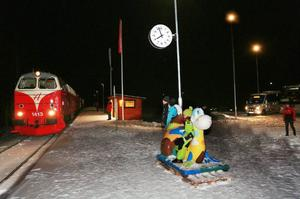 Runt 140 personer följde med säsongens premiär av Snötåget