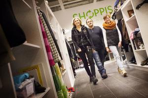 På frammarch. Ulrika Lindholm, Torbjörn Kroik och Marielle Brovinger satsat stort på sitt koncept med Shoppis.