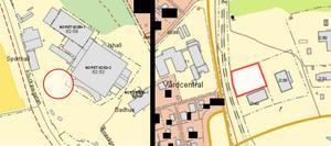 En lokal för ett nytt gym byggs vid Tegera arena och en lokal för bilserviceföretaget ska byggas på Limsjöänget. (Karta: Leksands kommun)