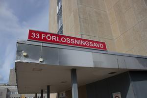 Förlossningsavdelningen på Västmanlands sjukhus Västerås.