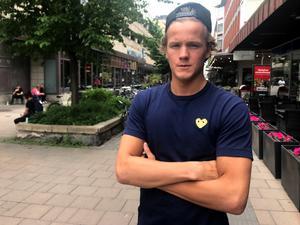 Jesper Boqvist i somras innan NHL-äventyret skulle ta fart.