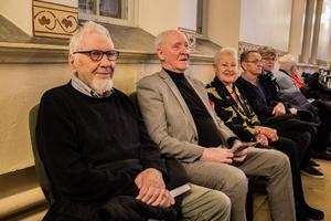 Gunnar Liss hade det trevligt tillsammans med makarna Bengt-Erik och Birgitta Bäckström.