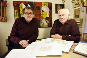 Gunnar Englund och Lars-Åke Hansson hade hoppats på att bygga ett fyravåningshus på Måmyren i Mora.