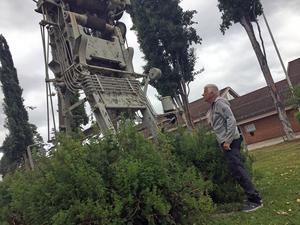 Ronny Nilsson är startklar för att rusta upp det gamla monumentet.