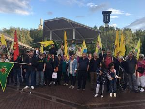 Mellan 80 och 100 personer deltog i demonstrationen i Söderhamn.