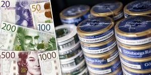 Snusdosor i snuskylen kan bli en kostsam affär för mindre handlare i flera av Jämtlands kommuner. Foto: Johan Nilsson