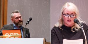 Hälso- och sjukvårdsnämndens ordförande Tom Silverklo (C) samt ledamoten Elin Hoffner (V). Montage.