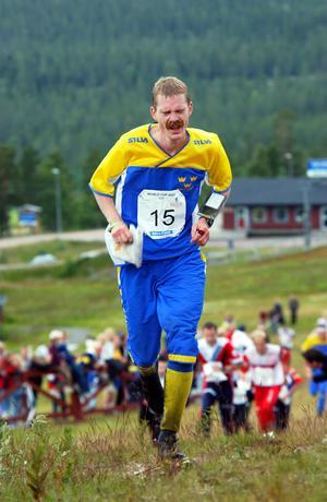 Mattias Karlsson på väg mot segern när världscupen besökte Idre 2002. Nu blir han banansvarig.