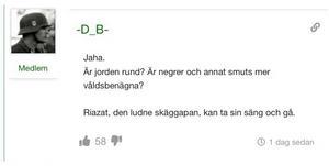 I Daniel Riazats flöde på sociala medier.