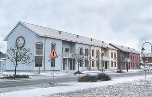 Vy över korsningen Boställsgatan/Södra Järnvägsgatan.