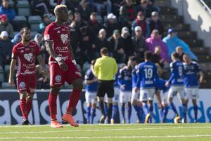 0–5-förlusten mot Gif Sundsvall samma år är fortfarande ÖFK:s största nederlag i allsvenskan någonsin. Foto: Therese Ny / TT.
