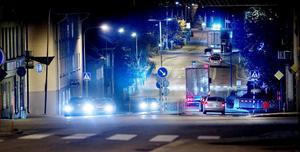 Kungsgatan i Hudiksvall klockan 21.45.