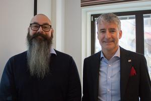 Försäljningschefen Jens Strandin och vd:n Stefan Lundqvist.