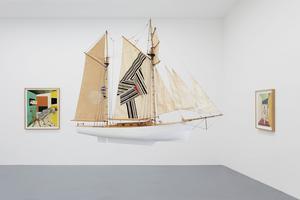 Foto: Galerie PerotinOptiska illusioner och en lekfull inställning till gränserna mellan rum och konstverk är vanliga ingredienser i Jens Fänges konst.