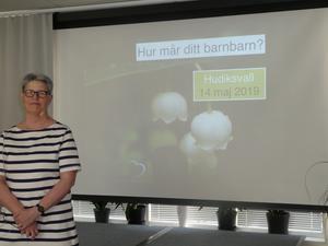 AnnKatrin Noreliusson från Familjebalans talade för SKPF pensionärerna och VisionVeteranerna.
