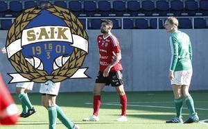 SAIK:s Roni Ali, här i Valbos tröja, gjorde mål både under ordinarie speltid och i straffläggningen. FOTO: ARKIV