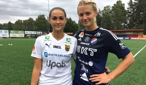 Lillasyster Alva Lundin, till höger, vann syskonkampen mot storasyster Lova Lundin.
