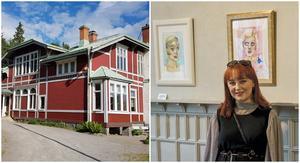 Unga konstnären Tindra Frelin ställer ut på Saltskog gård. Foto: Elias Zazi och Privat