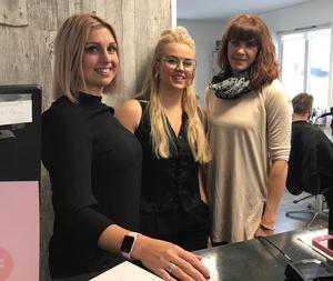 Kollegorna på Annikas Klipperia, Annika Sundt, Kajsa Thunell och Maria Karlsson.