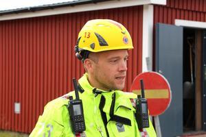 Filip Stefansson, räddningsledare på Gästrike räddningstjänst.