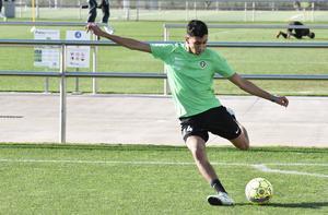 Amir Al-Ammari var åter med i kollektiv träning.