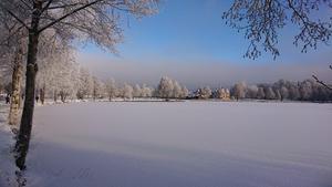 Vackert vinterlandskap i Nässjö. Bild: Camilla Franzen