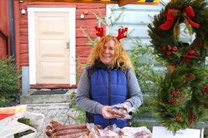 Diana Munch på Wadköpings julmarknad.