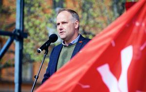 Jonas Sjöstedt (V), partiledare. Foto: Magnus Grimstedt